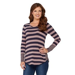 Logo By Lori Goldstein Contrast Striped top small